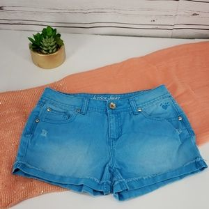 Justice simply low 16R blue Jean shorts